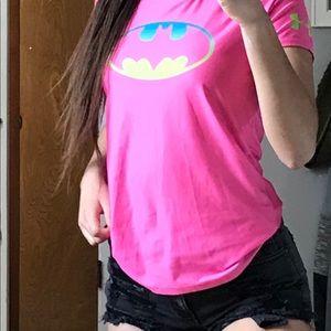 Tops - Pink neon Batman shirt